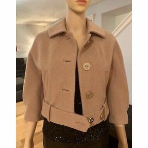 NWOT Juicy Couture Cropped Almond Brown Jacket